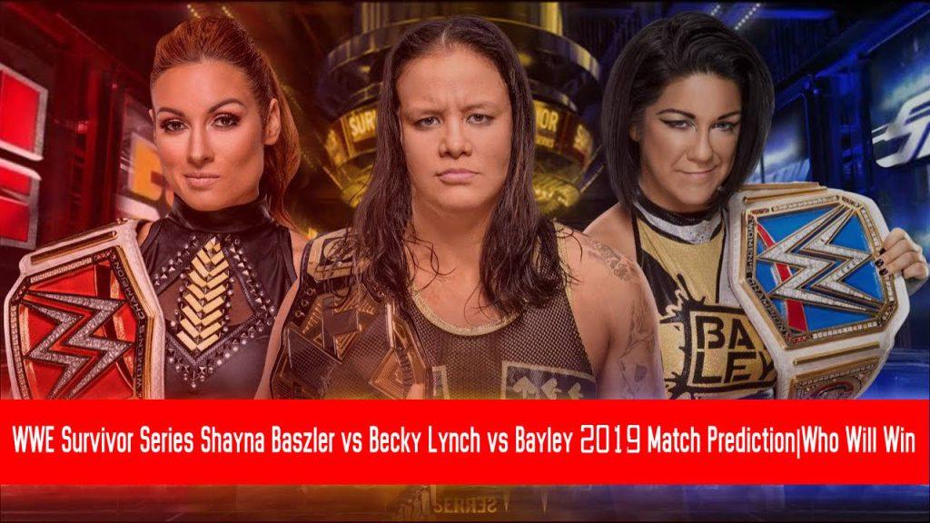 Shayna Baszler vs Becky Lynch vs Bayley 2019 Match Prediction