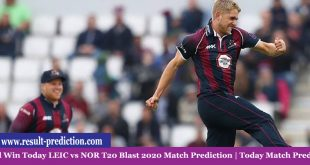 Who Will Win Today LEIC vs NOR T20 Blast 2020 Match Prediction | Today Match Prediction?