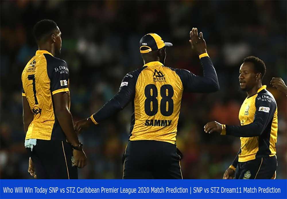 SNP vs STZ Caribbean Premier League 2020 Match Prediction | SNP vs STZ Dream11 Match Prediction