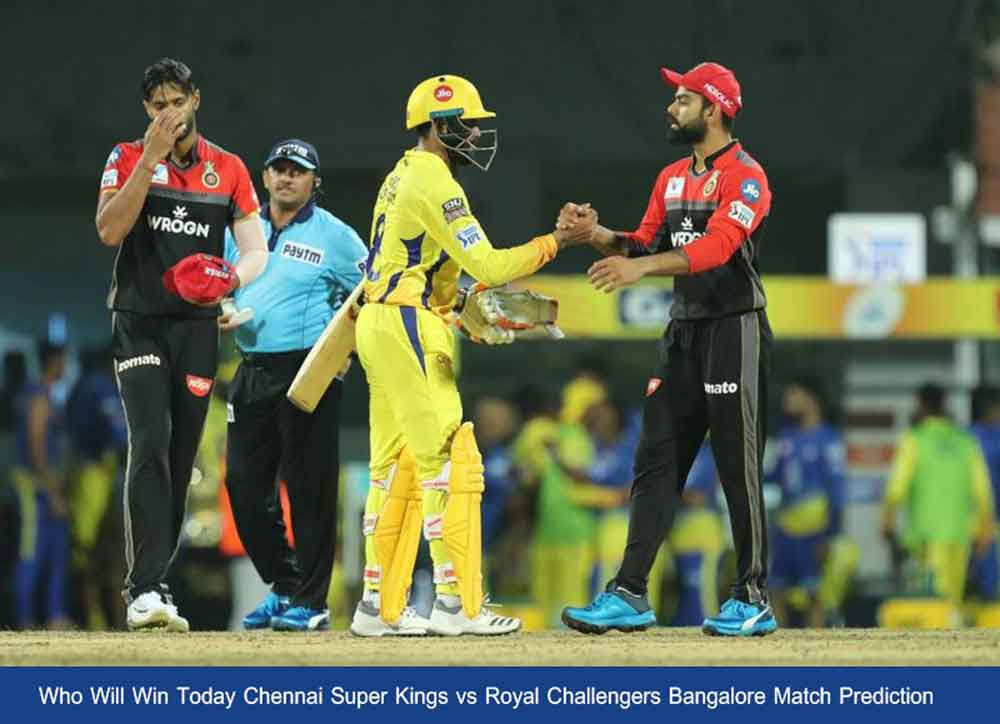 CSK vs RCB Match Prediction   CSK vs RCB 25th Match 10th October 2020 Who Will Win