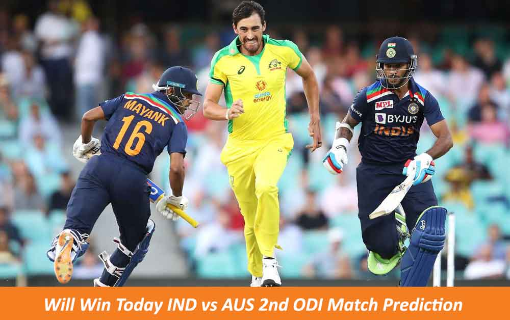 IND vs AUS 2nd ODI Match Prediction   Who Will Win Today IND vs AUS 2nd ODI Match Prediction   IND vs AUS Dream11 Match Prediction
