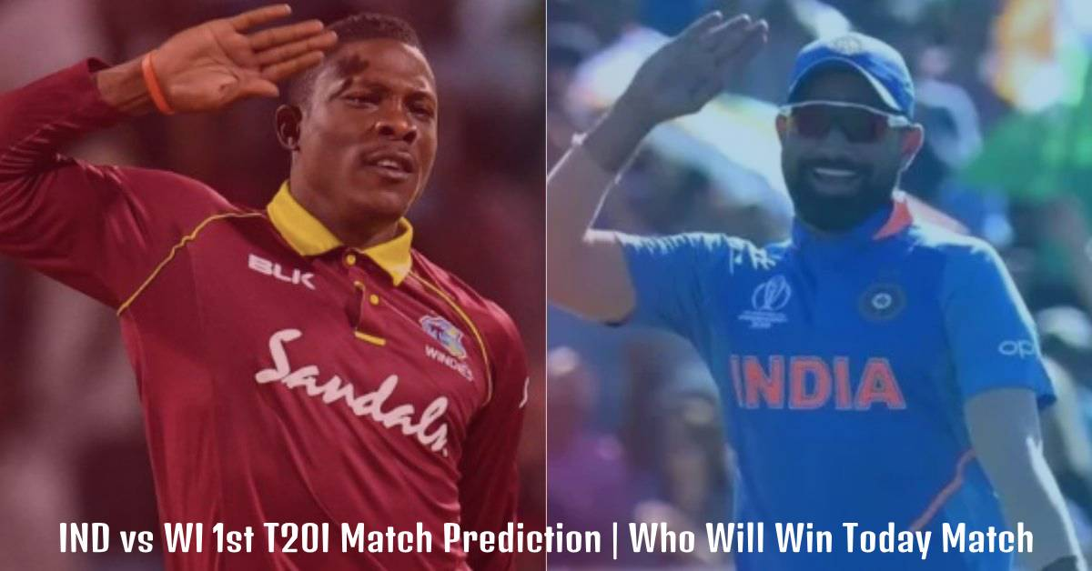 IND vs WI 1st T20I Match Prediction  Who Will Win Today Match