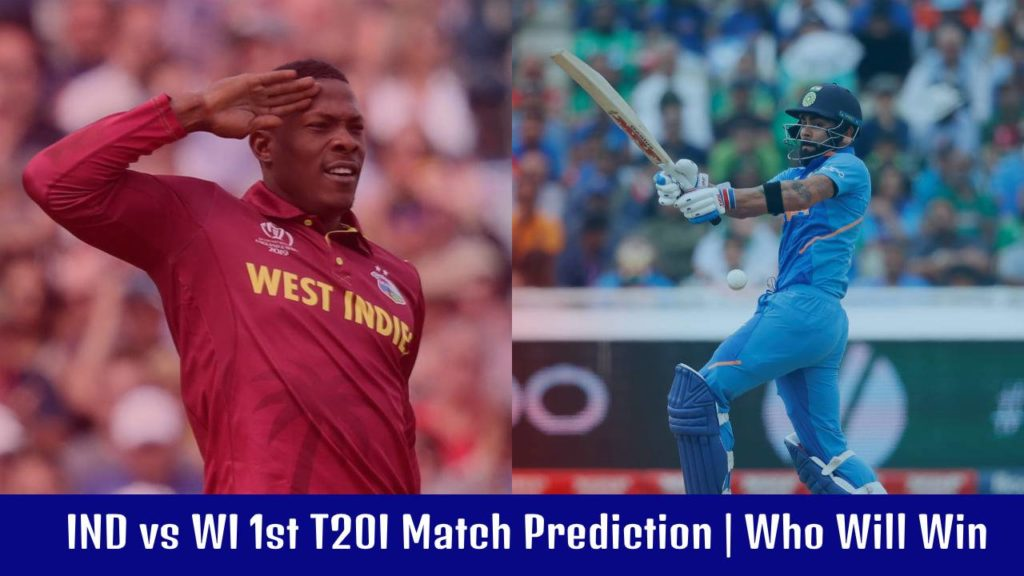 India vs Windies 1st T20 today match prediction