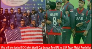 UAE vs USA Today Match Prediction