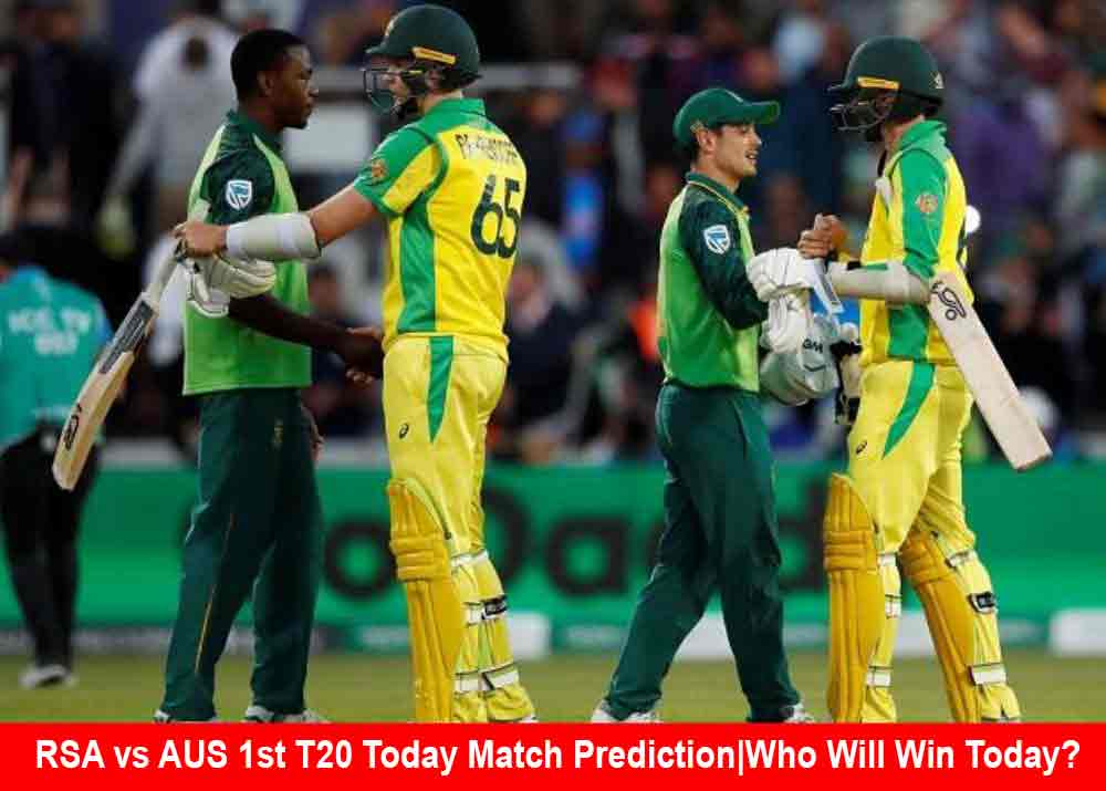 RSA vs AUS 1st T20 Today Match Prediction|Who Will Win Today?
