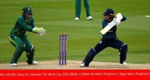 Who Will Win Today ICC Womens T20 World Cup 2020 ENGW vs RSAW 4th Match Prediction | Today Match Prediction?