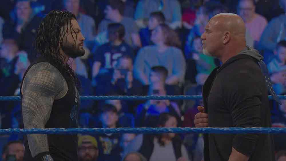 Goldberg (c) vs Roman Reigns