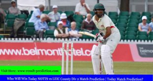 Who Will Win Today NOTTS vs LEIC County Div 2 Match Prediction | Today Match Prediction?