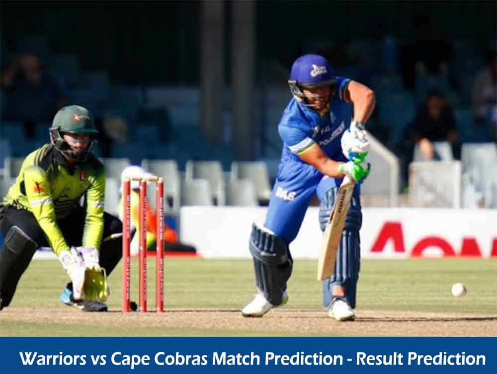 Who Will Win Warriors vs Cape Cobras One Day Cup Match Prediction