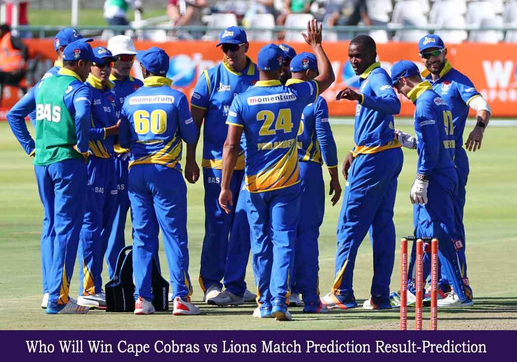 COB vs LIONS CSA T20 Challenge Match Prediction