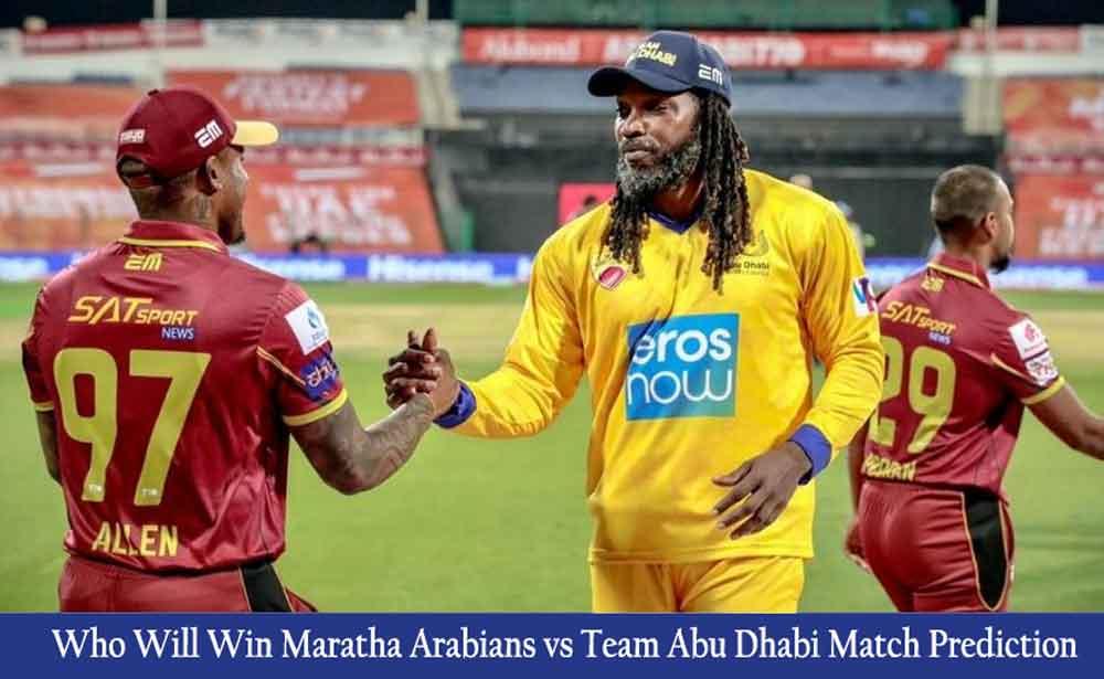 Maratha Arabians vs Team Abu Dhabi T10 League Match Prediction
