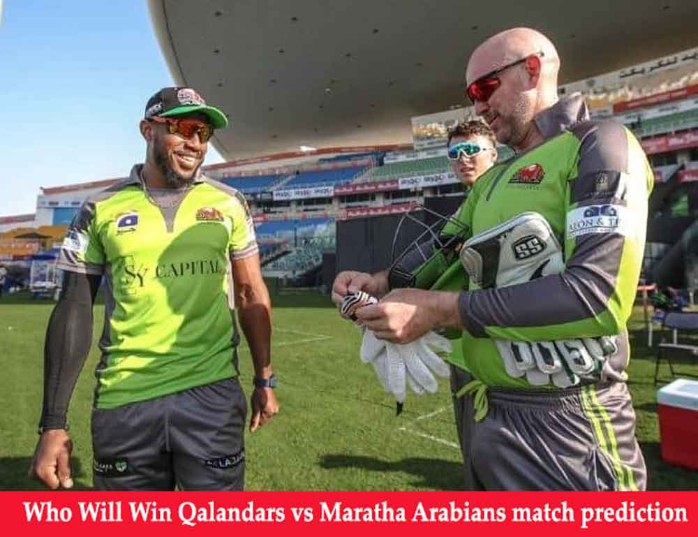 Qalandars vs Maratha Arabians T10 League Match Prediction